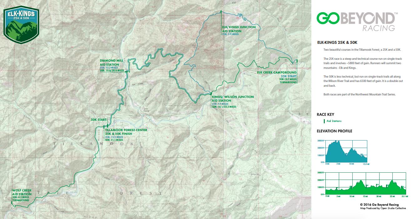 Elk Kings course map